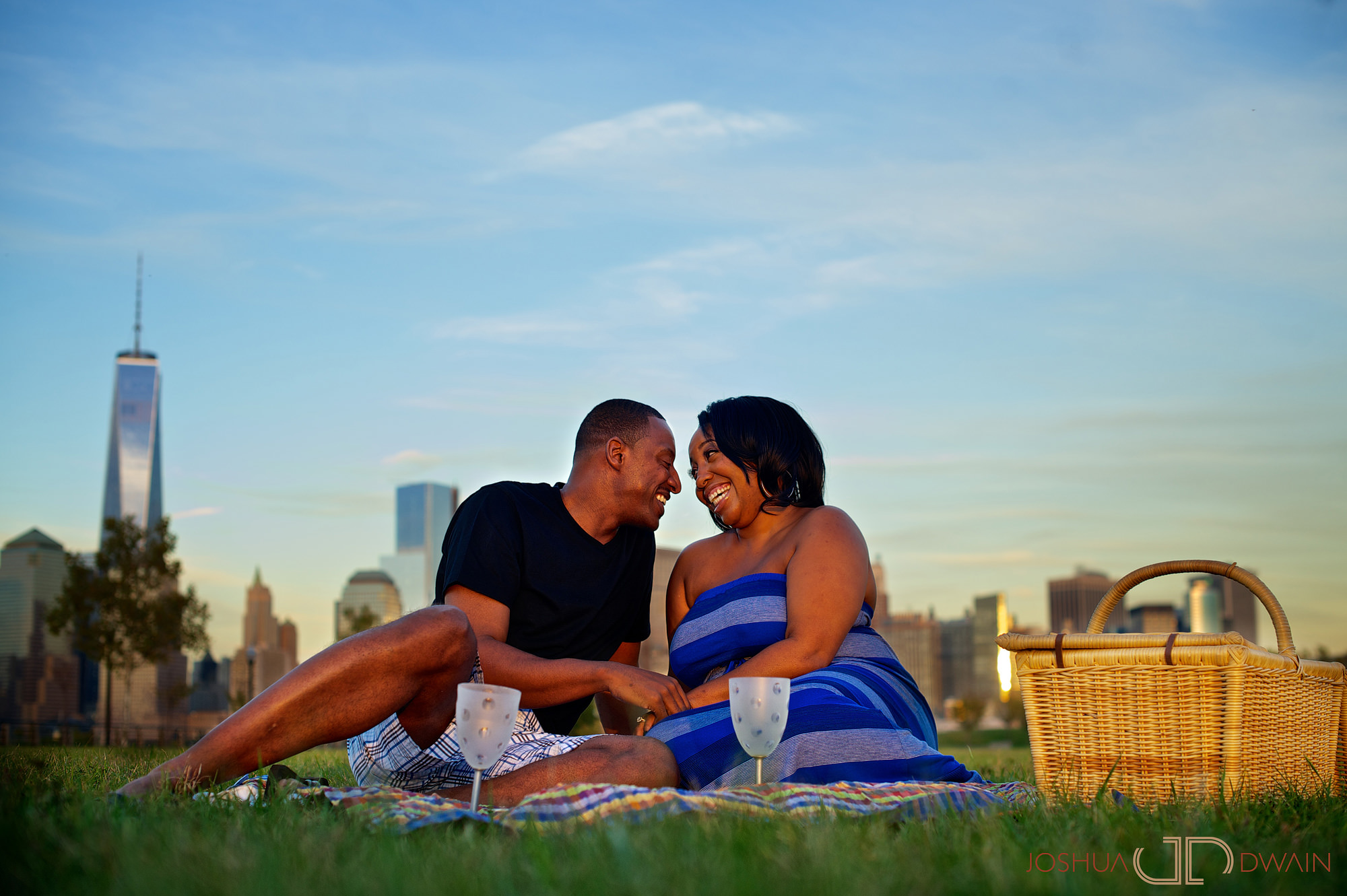 Leah & Chris Engagement Photos at Liberty State Park