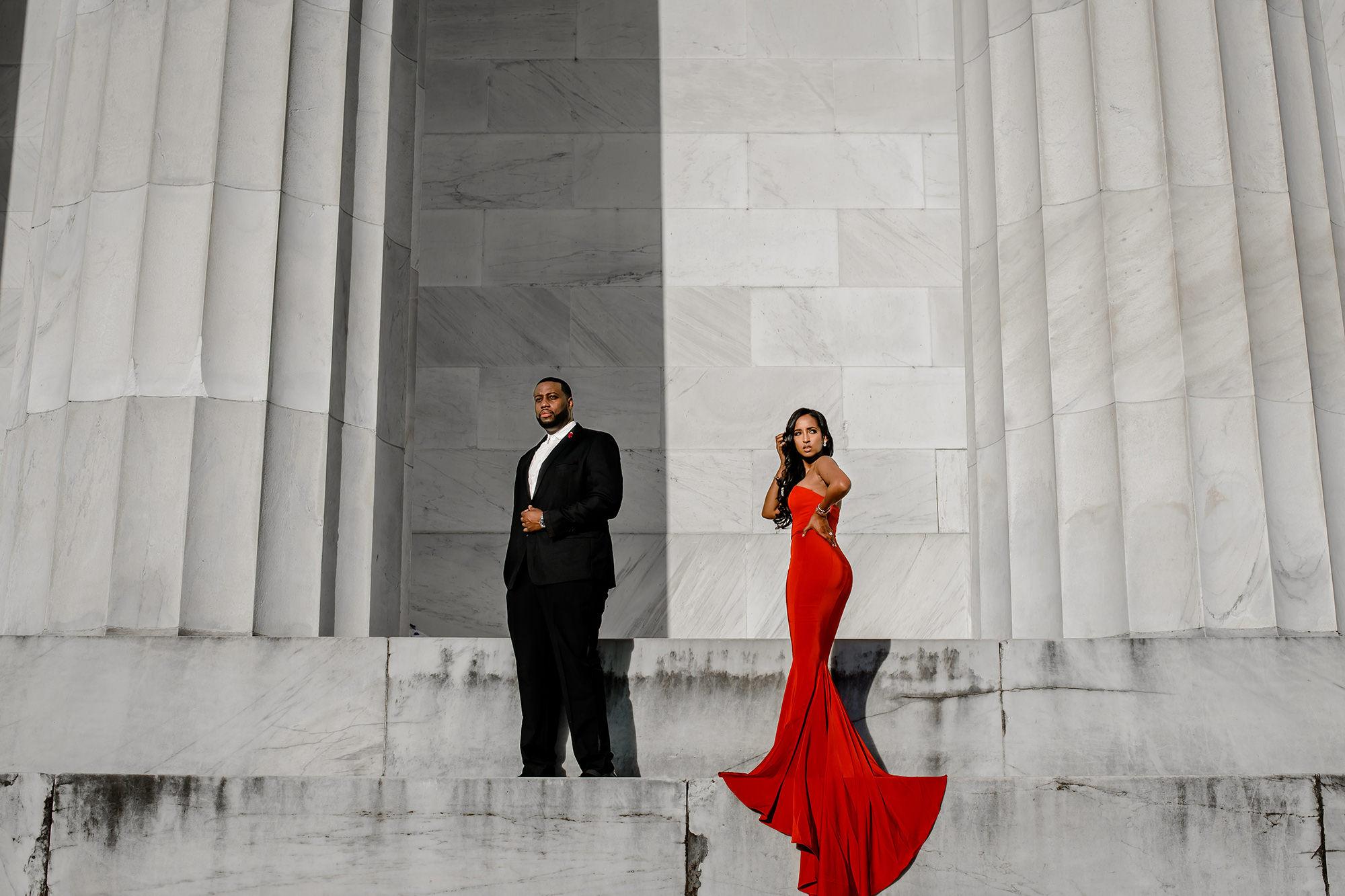 Askale & Dre's DC Engagement Photos
