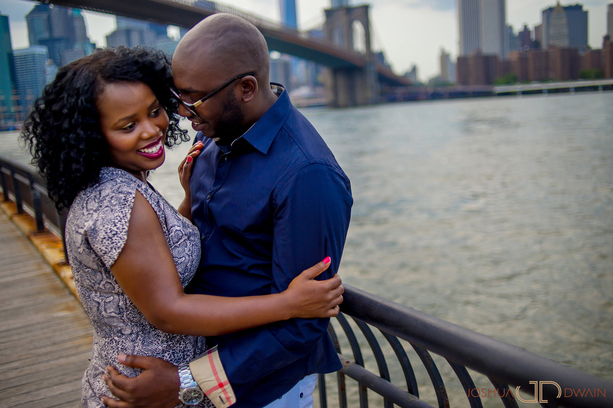 Kimberly & David's engagement in Dumbo, Brooklyn, NY