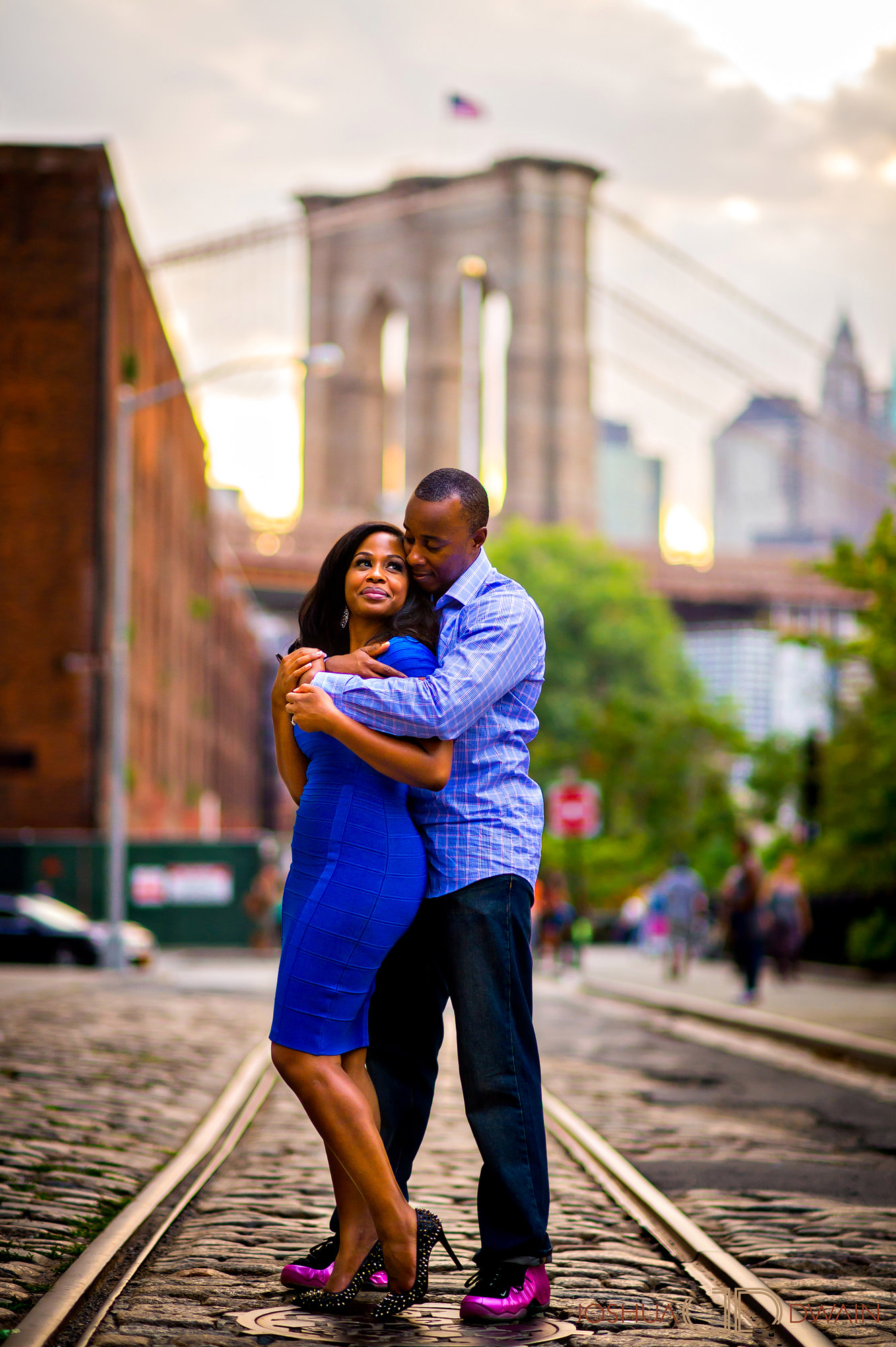 Penelope & Joseph's Engagement Session in Dumbo, Brooklyn, NYC