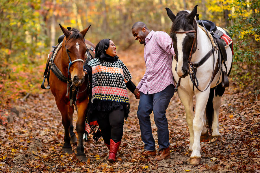 Horseback Riding Engagement Photos