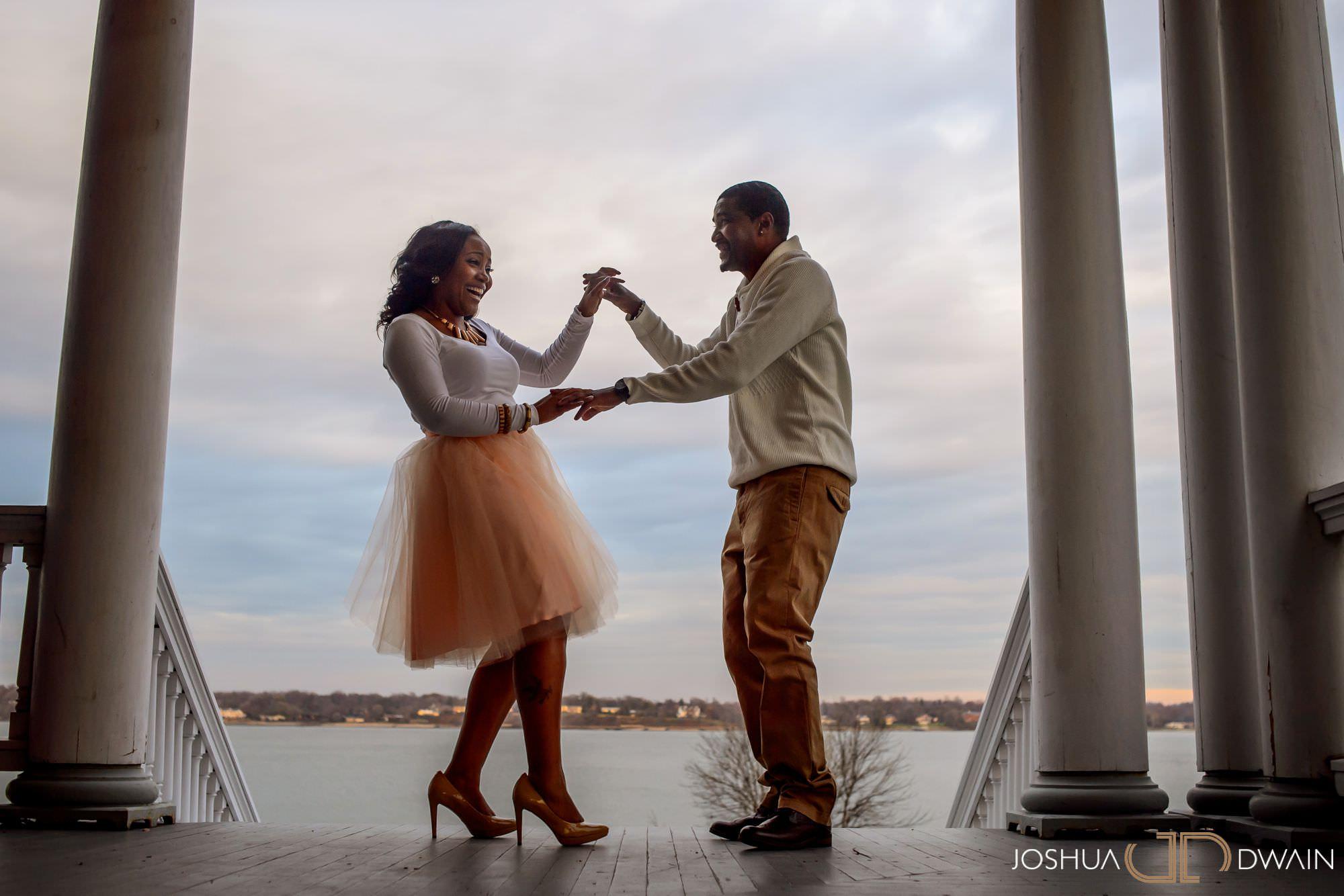 Luan & Joseph's engagement session at Fort Totten Park