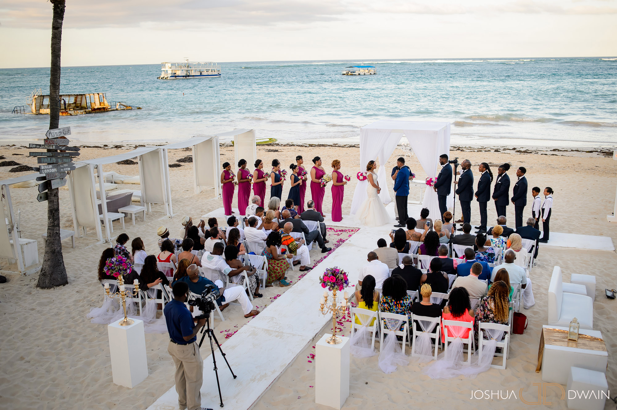 Chanel & Amir's Wedding at the Huracan Restaurant in Punta Cana, DR