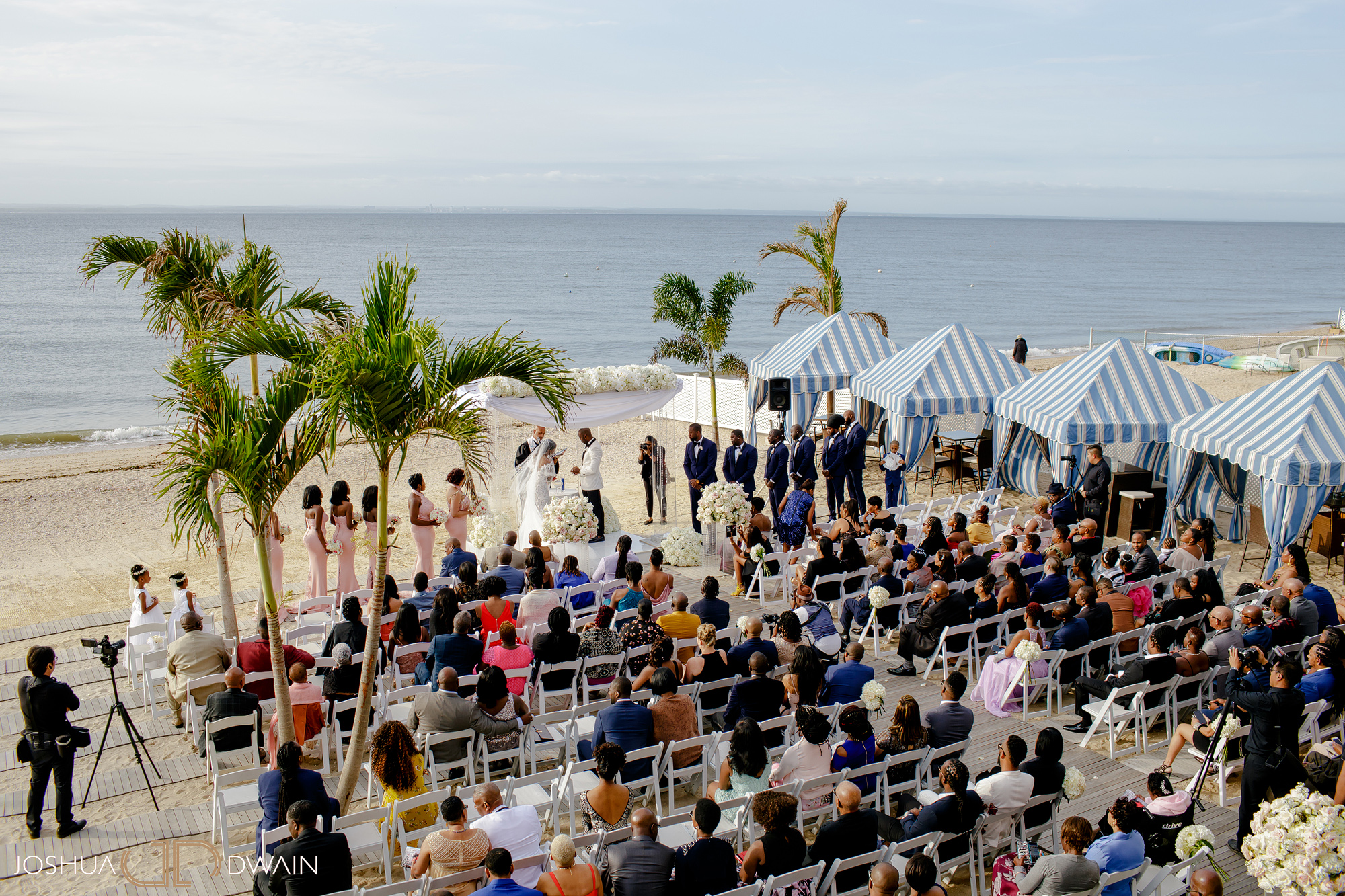 Shari & Deron's Beach Wedding at Crescent Beach Club in Long Island